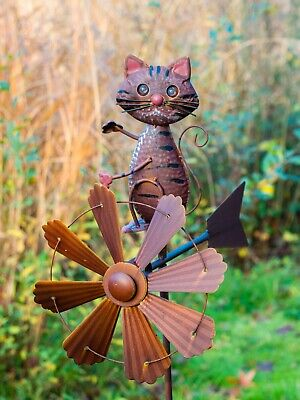 Cat Wind Sculpture WINDSPINNER Animal04- Jonart Designs