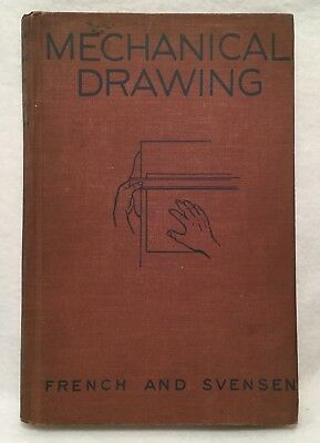 Vintage c.1944 MECHANICAL DRAWING by French & Svensen 4th Ed. HC - McGraw