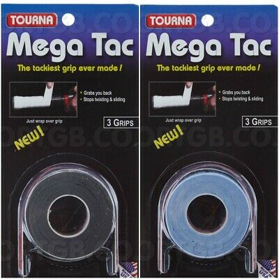 Racket Grip Overgrip - Tourna Mega Tac 3 Grips Roll - Tennis Squash Badminton