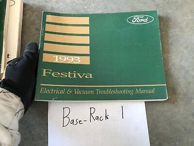 1993 ford festiva electrical wiring diagrams service manual oem factory  workshop