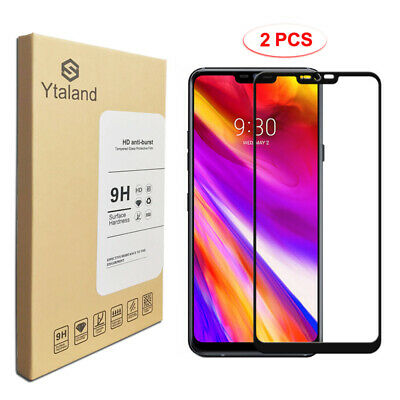 2-Pack Full Cover Tempered Glass Screen Protector For LG G7 Thin Q