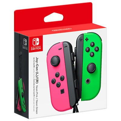 New Nintendo Switch Left and Right Joy-Con Controllers - Neon Pink/Neon Green