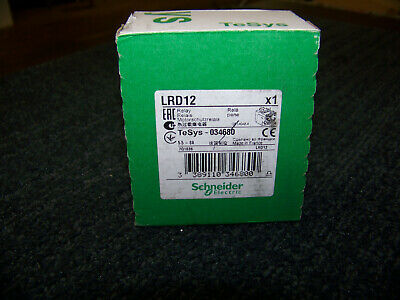 Schneider Electric TeSys LRD Thermal Overload Relay Class 10 5.5 to 8A LRD12 New