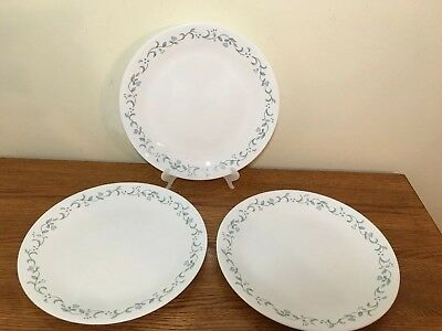 """Set of 3, Corning Corelle """"Country Cottage"""" Dinner Plates 10 1/4"""""""