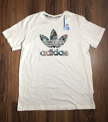 377cbafa0bbb5 NWT ADIDAS ORIGINALS Trefoil Kid Big Girls Zoo Animal Print Tee T ...