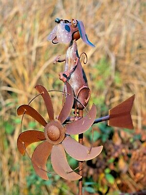 Perro Viento Escultura Windspinner Animal03- Jonart Designs