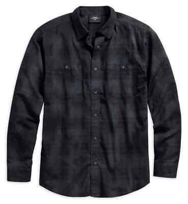 96578-19Vm Harley-Davidson Men's Speciality Wash Plaid L/S Shirt   ** New**