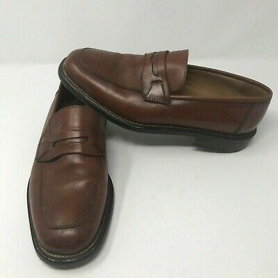 469d9dee472 Mercanti Fiorentini Mens Brown Leather Penny Loafers Shoes Made In Italy US  9M