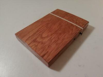 An Antique Wooden Card Case With Button Clasp : c1900