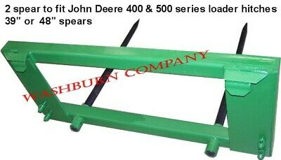 "Hay Bale Mover John Deere 200-500, 2 Spear 48"" Long Spikes"