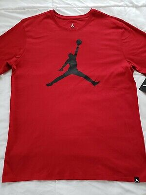 8c9542a8a6f660 Nike Air Jordan JSW Iconic Jumpman T-shirt Men s XL Red Black NWT 908017
