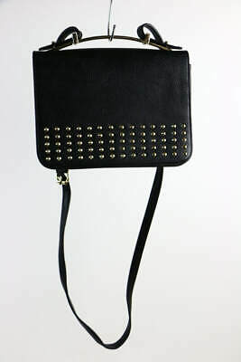 Big Buddha Black Faux Pebbled Leather Goldtone Stud Purse/Handbag