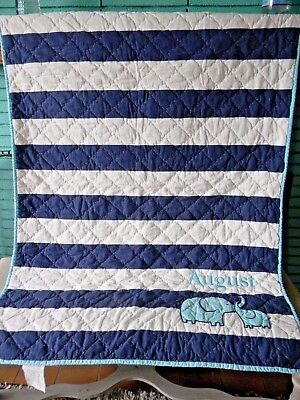 Pottery Barn Nursery /Baby Quilt Monogrammed - August