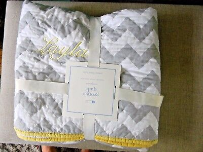 Pottery Barn Georgia Nursery /Baby Quilt Monogrammed - Layla