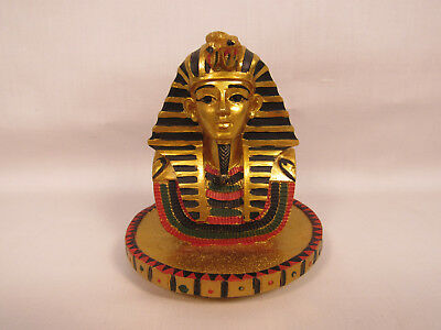 Egyptian Pharaoh King Tut Figurine Bust