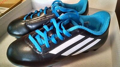 newest 37460 20b82 Adidas Youth Cleats Size 3 Soccer Shoes with TRX FG Cleats Blue Black