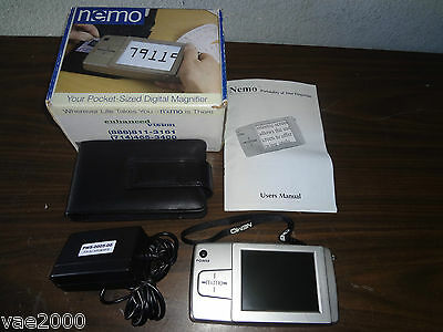 "Portable Magnifier 4"" LCD color NEMO handheld visual aid for low vision"
