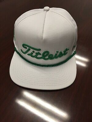 195173d4 New Rare Titleist Masters Green Tour Rope Flat Bill Limited Snapback Hat