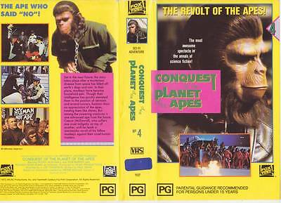 The Planet Of The Apes The Revolt Of The Apes Vhs Video Pal~ A Rare Find