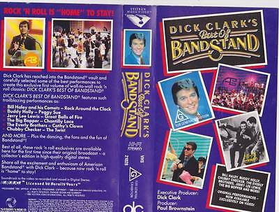 Band Stand Dick Clarke The Best Of Vhs Pal Video~ A Rare Find