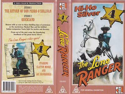 The Lone Ranger Four   Vhs Pal Video  A Rare Find