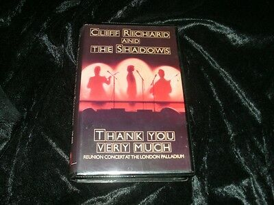 Cliff Richard And The Shadows Thankyou Very Much A Rare Find ~Vhs Video Pal