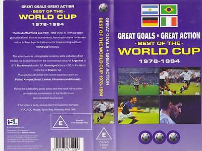 Best Of The World Cup 1978=1994  Vhs Video Pal~A Rare Find