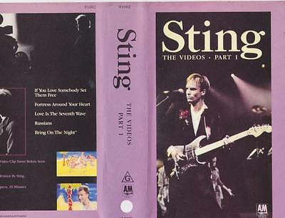 Sting The Videos Part 1 Vhs Pal Video~ A Rare Find