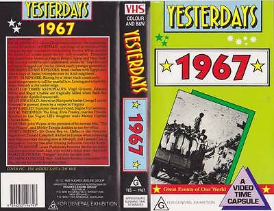 Yesterdays  1967 Vhs Video Pal~ Very  Rare Find~