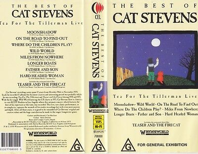 Cat Stevens The Best Of  Vhs Pal Video~A Rare Find