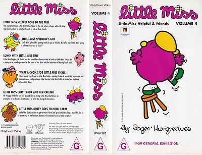 Little Miss Volume 4 Vhs Pal Video~ A Rare Find