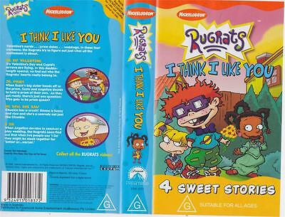 A Rugrats Think I Like You  Vhs Pal Video~ A Rare Find