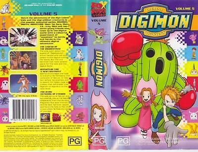 Digimon Volume 5 Video Pal Vhs A Rare Find~