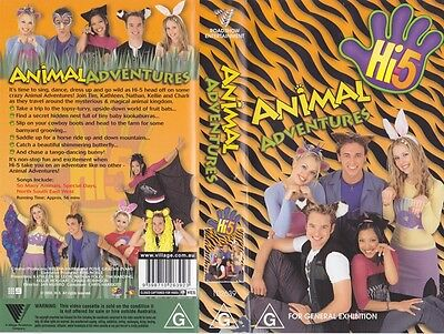 Hi 5 Animal Adventures Vhs Video Pal~ A Rare Find In Excellent Condition