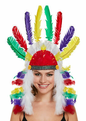 Adults Deluxe Wild West Native Indian Chief Headdress Fancy Dress Accessory