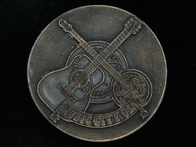 Pl21122 Vintage 1974 **Music City Usa Nashville Tn** Music Commemorative Buckle