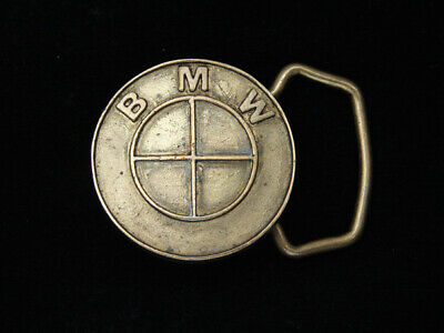 QB09144 VINTAGE 1970s **BMW** CAR & AUTO COMPANY SOLID BRASS BELT BUCKLE