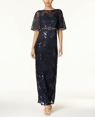 Adrianna Papell Sequined Embroidered Gown MSRP $279 Size 4 # AN 2279 NEW