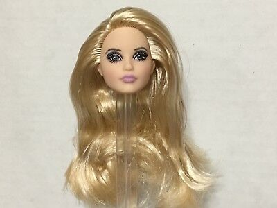 Barbie Model Andy Warhol Karl Mackie Face Blonde Hair Doll's Head - Head Only
