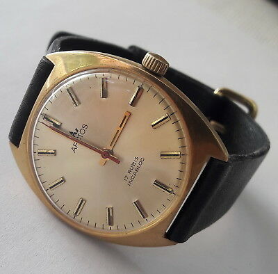 Vintage ARCTOS Gold Plated Durowe INT7420/2 Military Quality German Made 1970's