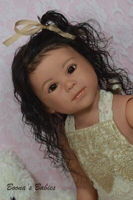 CUSTOM ORDER Reborn Doll Toddler Girl Luca By Ping Lau~ Human Hair Glass Eyes