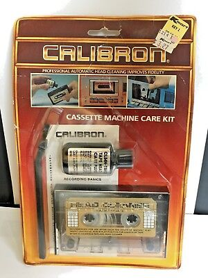 Vintage Calibron Audio Cassette Tape Head Cleaner W / Cleaning Solution & Brush