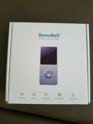 Remobell  Wireless Battery Powered Video Dorbell W Night Vision