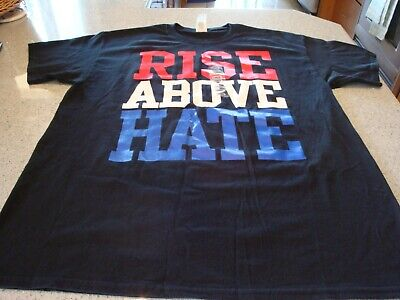 sale retailer bf9a0 6c304 John Cena Rise Above Hate T-Shirt - Black - Large Gildan