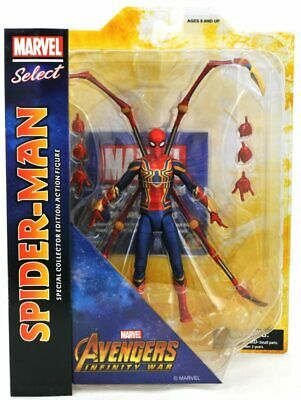 """Marvel Select Avengers Infinity War Spider-Man Iron Spider 6"""" Action figures"""