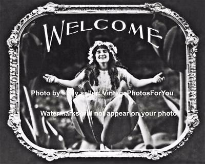 Old Vintage Antique Funny Weird Strange Welcome Movie Theater Slide Photo