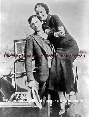 Depression Outlaws/FBI Most Wanted Bank Robbers Bonnie Parker Clyde Barrow Photo