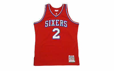 0f001b54d5d Mitchell   Ness Philadelphia 76ers Moses Malone 1982-83 Jersey red blue XL