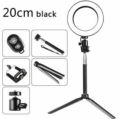 "6"" Dimmable 5500K LED Ring Light Kit Set With Stand For Camera Video Photograph"