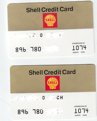 1974 Shell Gas Credit Card Expires End Of 10/74 Slight Markings On Back 2X